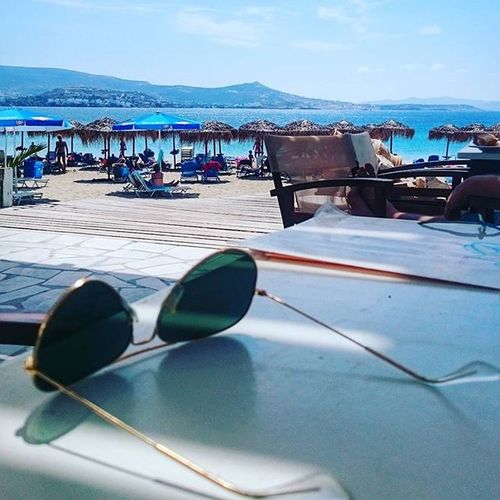 Krios Kriosbeach Paros Paro Greece2015 Greecestagram Greece Grecia Summer Sea Seaside Picoftheday Photooftheday Enjoy Cyclades_islands Cyclades Lunch Rayban Eyewear Greekislands