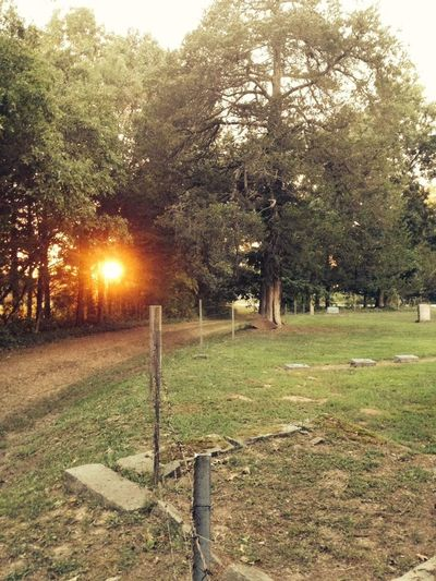 Brown Cemetery Outdoors Tranquil Scene Ozarks MO Sunset Historical Abandoned Places Lost In The Landscape Lost In The Landscape