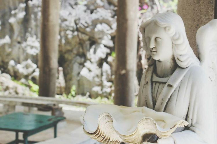 Angel Statue At Matinloc Shrine