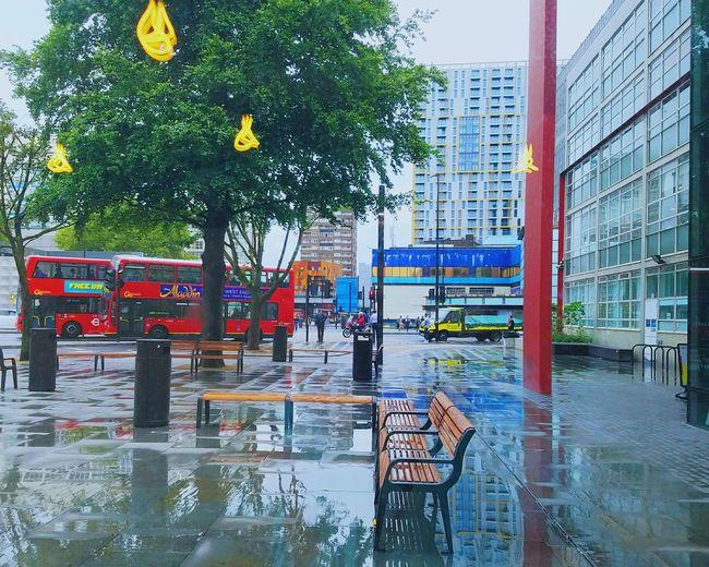 Rain RainDrop Outdoors Sky No People Bus Reflection