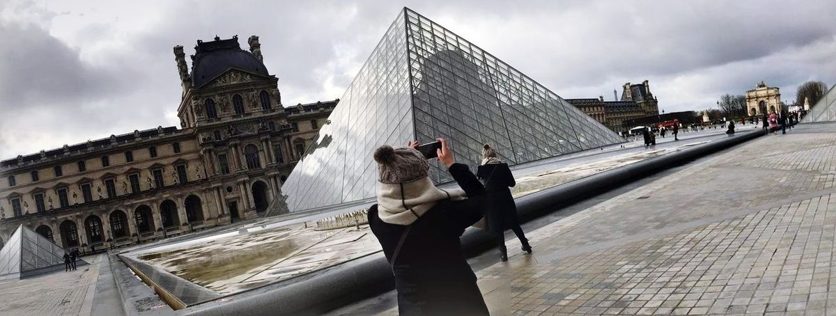 me and myself at Louvre Museum Igersparis Artphotography Sharing  Instagrammers Shooting Colorful Photographer Cityoflove Topparisphoto Fineart Myshoot Cityscape Winter Parisphoto Travellingthroughtheworld France Igers Travelling Placetobe Adults Only First Eyeem Photo