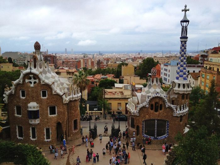 Park Guell Against Sky In City