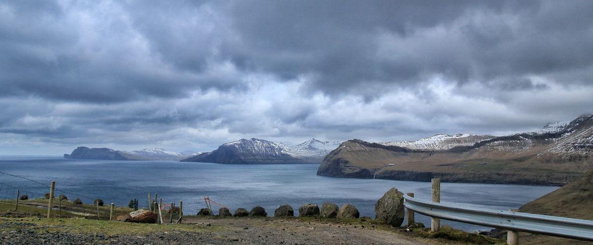 Faroe Islands Coastline EyeEm Nature Lover Atlantic Ocean Mountains Islands Clouds And Sky Enjoying Life No Way Back The Point Of No Return