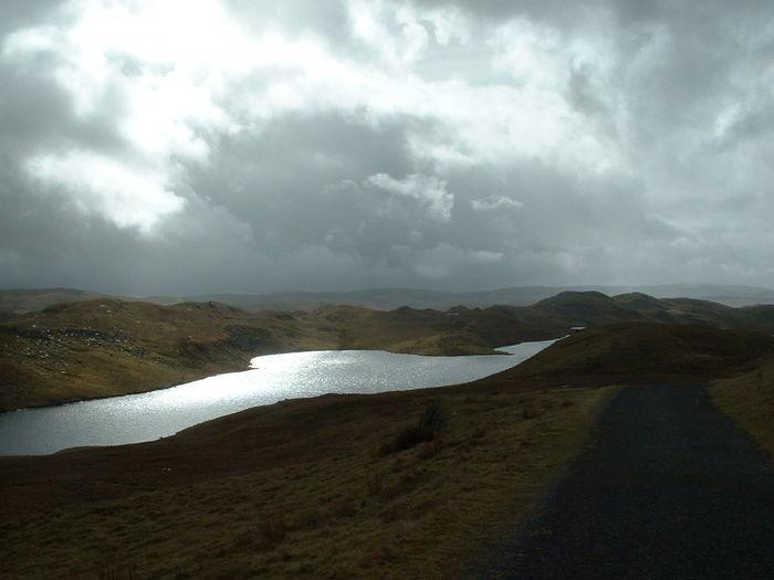 lake Dark Brooding Wales Lake Wilderness Area Teifi Pools