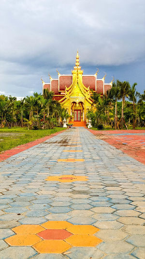 Architecture Building Exterior Built Structure Chiang Mai | Thailand Cloud - Sky Day Gold Colored Lanna Architecture No People North Outdoors Place Of Worship Religion Sky Sky And Clouds Spirituality Temple Temple - Building The Way Forward Travel Destinations Tree