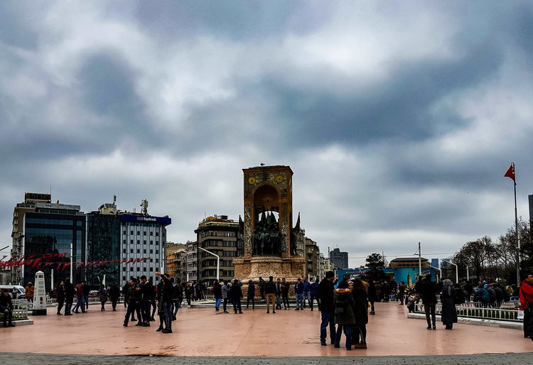 Square Travel Destinations Travel Traveling Travel Photography Turkey Istanbul City Crowd Sky Architecture Building Exterior Cloud - Sky