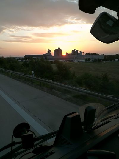 Outdoors Cityscape Cementry Hannover, Truckerlife Good Morning Sunshine Cityscape Sun Highway Road