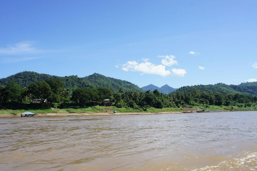 Beach Cloud - Sky Day Landscape Mekong Mekong River Mountain Nature No People Outdoors River Cruise River View Riverscape Riverside Sand Sea Sky Tranquility Tree Vacations Water