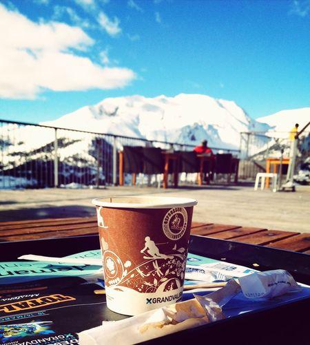 Cafè d'altitud. Great Atmosphere Snowsnowsnow. Enjoying Life Relaxing