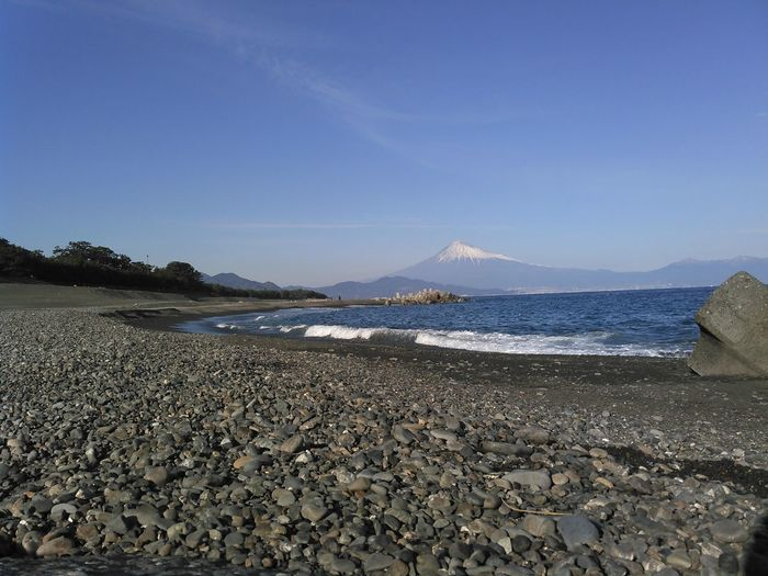 富士臨む海 Mt.Fuji World Heritage Ocean View Beach Beachphotography EyeEm Selects Water Sea Clear Sky Mountain Beach Sand Sunny Low Tide Sky Landscape