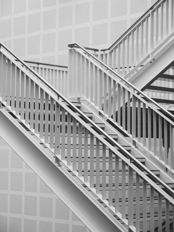 Architecture Railing Built Structure No People Building Exterior Close-up Stairs Indoors  Design Modern Architecture Architecture Design Industrial Architecture White Interior Design Building Interior Architecture The Week On EyeEm