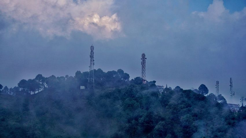 Sky Low Angle View Nature Tree Mountain Outdoors Beauty In Nature No People Day Hills Hillside View Uphill Kasauli Kasauli Hills Blue Cloud - Sky Cloudmountain
