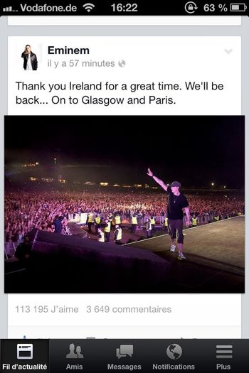 my husband in 4 day to paris Eminem Concert Paris 22 Aout