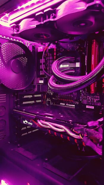 Millennial Pink Technology Pink Color Circuit Board No People Turntable Computer Chip CPU Water Cooling PC Msi Gaming Corsair