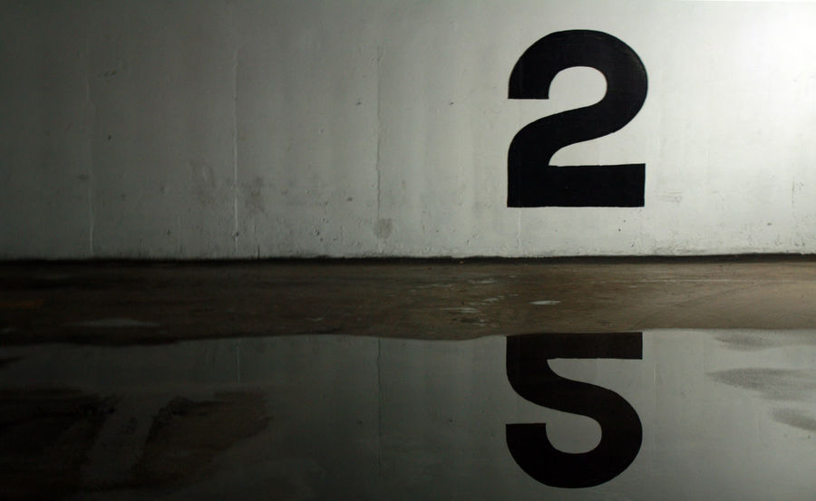 Level 2 2 2nd Floor Angles Close-up Level 2 No People Number Number 2 Number Two Parking Lot Reflection Second Floor Shapes Two