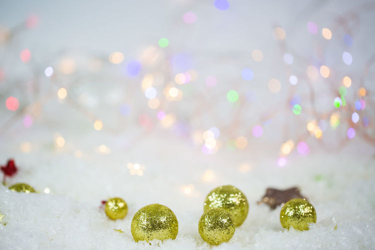 Close-up view of christmas decoration