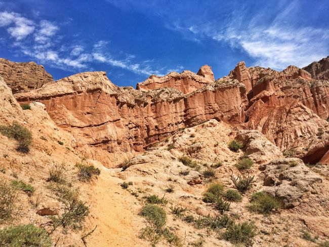 Rock Formation Rock - Object Geology Sky Physical Geography Travel Destinations Tranquil Scene Scenics Tranquility Travel Low Angle View Tourism Blue Desert Beauty In Nature Famous Place Nature Eroded Arid Climate Cloud - Sky