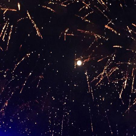 Marrakech Sky #moon Fireworks