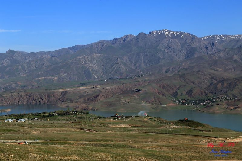 Taleghan. Landscape Mountain Nature Day Sky Water Lake