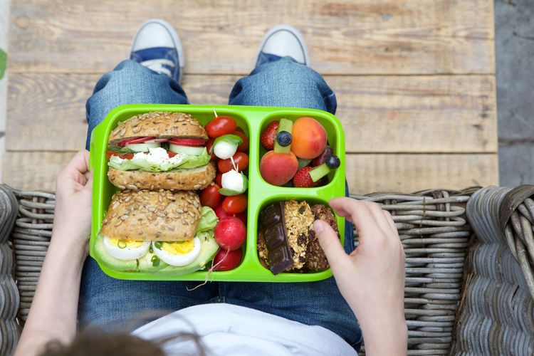 Adult Breakfast Day Eating Food Food And Drink Fruit Healthy Eating Leisure Activity Lettuce Lunch Outdoors People Protein Bar Ready-to-eat Sandwich