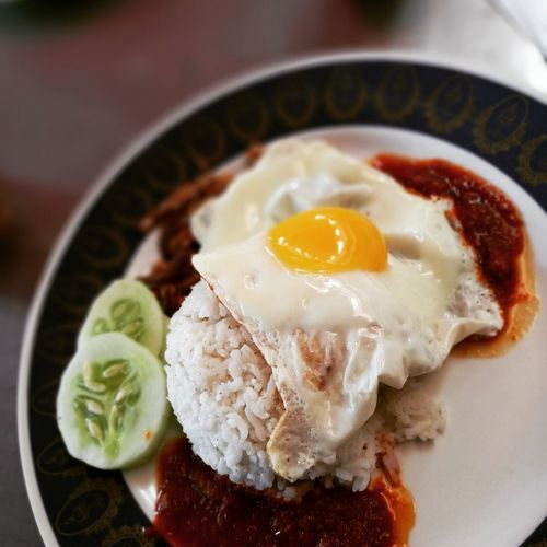 Nasilemak Mamak Stall Malaysian Food Food And Drink Food Egg Ready-to-eat Fried Egg Meal