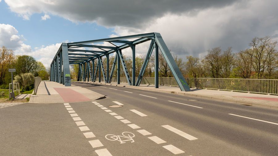 Friedensbruecke Havelland Germany Kreisstadt Radsport Architecture Bridge - Man Made Structure Cloud - Sky Day No People Outdoors Road Sky The Way Forward Transportation Tree Wandern