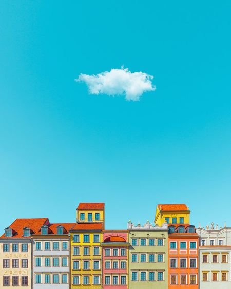🔹🍬🍰🍭🔹︱ᴡᴀʀsᴀᴡ sᴡᴇᴇᴛs Old Town Old Buildings Blue Blue Sky Sky And Clouds Sky_collection EyeEm Best Shots EyeEmNewHere EyeEm Selects First Eyeem Photo Minimalism Minimal Building Exterior Symmetry Clear Sky Idyllic Tenements Old Buildings Museum Innovation Futuristic City Sky Architecture Building Exterior Historic History Sky Only Historic Building The Past