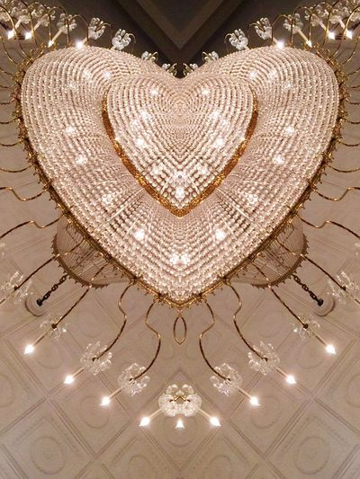 Chandelier version 3 Your Design Story Chandelier Chandelier Light Cealing Abstract Bright Heart Shaped  Geometric Abstraction 43 Golden Moments