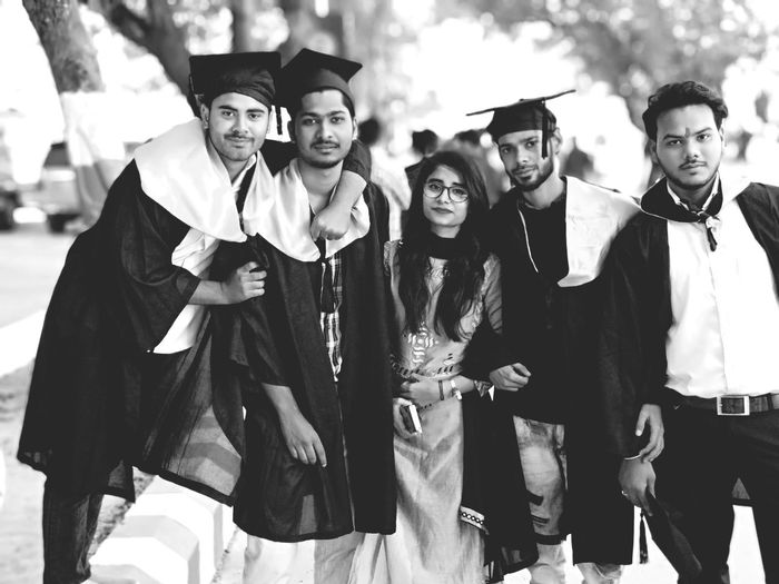 Graduation🎓 Graduate Group Friends Felling Happy Up Lko Best Shot Friendship Portrait Men Looking At Camera Film Industry Period Costume Fashion Well-dressed Cheerful Smiling