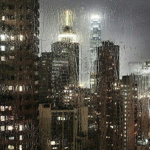 Rainy night. Germany. Berlin