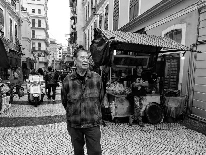 An uncle on the world heritage street One Person Mature Adult On The Street Art Is Everywhere Asian Cities Street Photography Wanderlust Wandering Around Aimlessly HuaweiP9 Leica Lens Urban Photography Photograph Like Painting EyeEm Gallery Tourist Attraction  Huaweiphotography Onthestreet