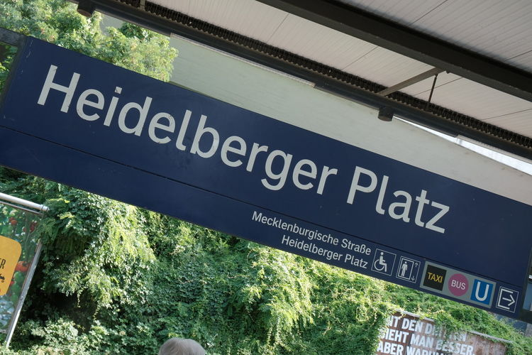 Berlin, Germany - August 31, 2017: Heidelberger Platz underground station. Heidelberger Platz is a railway station in the Wilmersdorf district of Berlin. It is served by S-Bahn lines S41, S42 and S46 Berlin Commuting Heidelberger Platz Heidelberger Platz U-bahn Metro S Bahn S Bahn Ring S-Bahn Berlin S-Bahn Sign S-Bahn Station S-bahn Transportation Underground Station  Heidelbergerplatz Metro Station Railway Station S Bahn Station Sbahn Sbahnberlin Subway Station Transportations