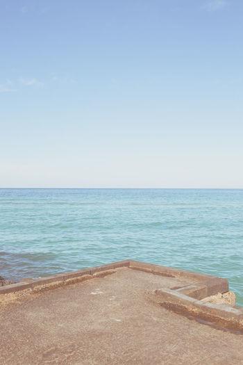 Beach Sky Horizon Over Water Clear Sky Horizon Wave 바다풍경 바다 Iland 제주 제주도 하늘 수평선 물 추억 그립다 힐링여행 힐링포토 치유사진