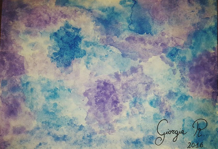 My draw 🎨 Artist Drawing ✏ Universe Watercolours Giotto