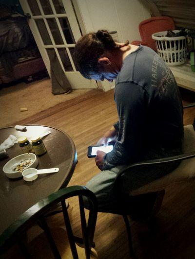 Man Phone Sadness Alone Indoor Table The Secret Spaces EyEm New Here EyeEm Best Shots - Black + White Vintage Long Goodbye EyeEmNewHere Close-up Resist EyeEm Diversity