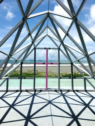 Pattern Architecture Built Structure Metal Sky Day Outdoors Frame Within A Frame EyeEmNewHere