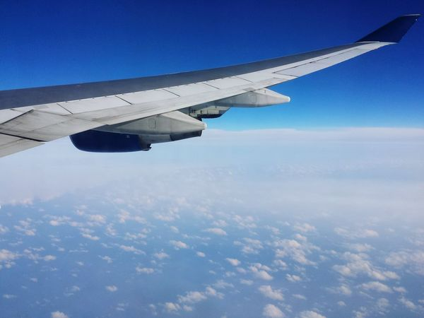 Inflight Sky And Clouds Skyandclouds  Wingspan Plane View