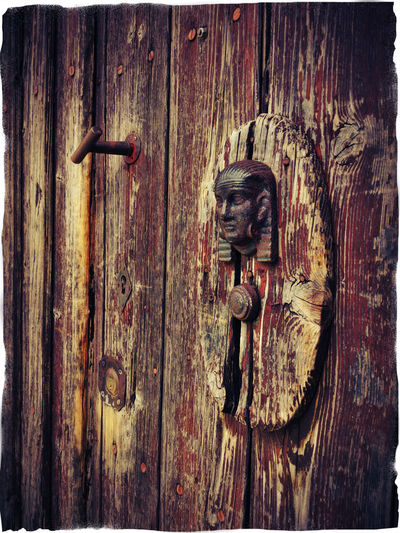 weathered wooden door with door knocker 4 Brown Color Brown Colour Close Up Door Knocker Outdoors Pharao Red Color Weathered Weathered Wood Wood - Material Wood Door