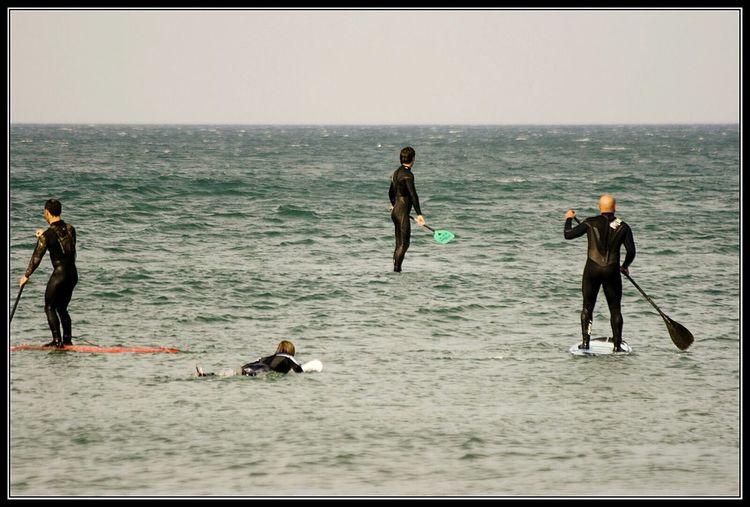 Seaside Oceanside Surf Surfing Playa De Zarautz