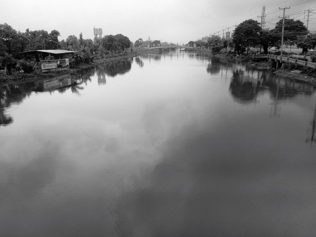 Black And White Photography Lifestyle beside Canal