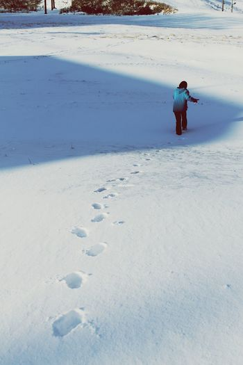 No matter what kind of adventure you take,you'll leave footprints YouAdventure Club Japan Snow Photography Footprints