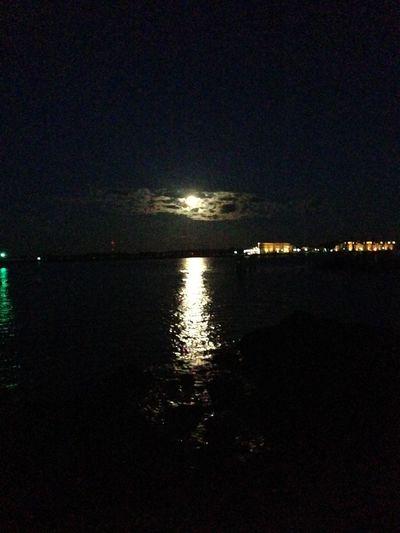 Warnemünde Mond Moon Moonlight Night Clouds Ocean Easter Beautiful Love
