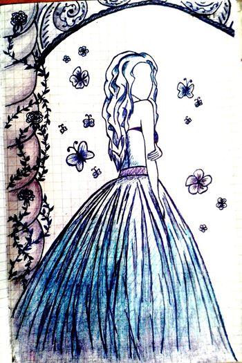 Art ArtWork Art, Drawing, Creativity Drawing Fantasy Beautiful Girl Fairy Snow Queen