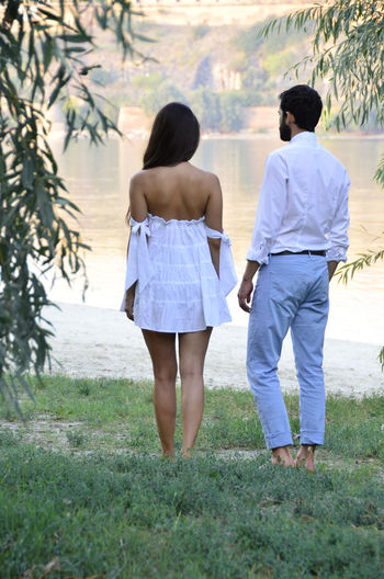 Beautiful People Couple Couplephotography Beautifulday Couples Shoot Day Full Length Grass Leisure Activity Lifestyles Men Nature Naturelovers Outdoors People Real People Rear View Standing Togetherness Tree Two People Walking Women Young Adult Young Women