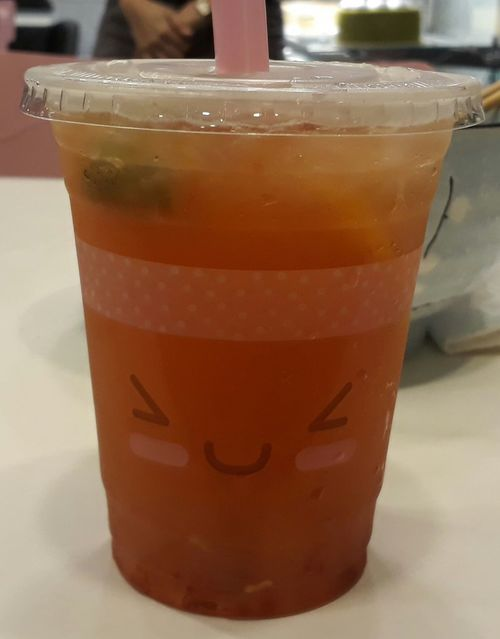 Refreshment Smiley Face No People Close-up Liquid Eyeemphotography
