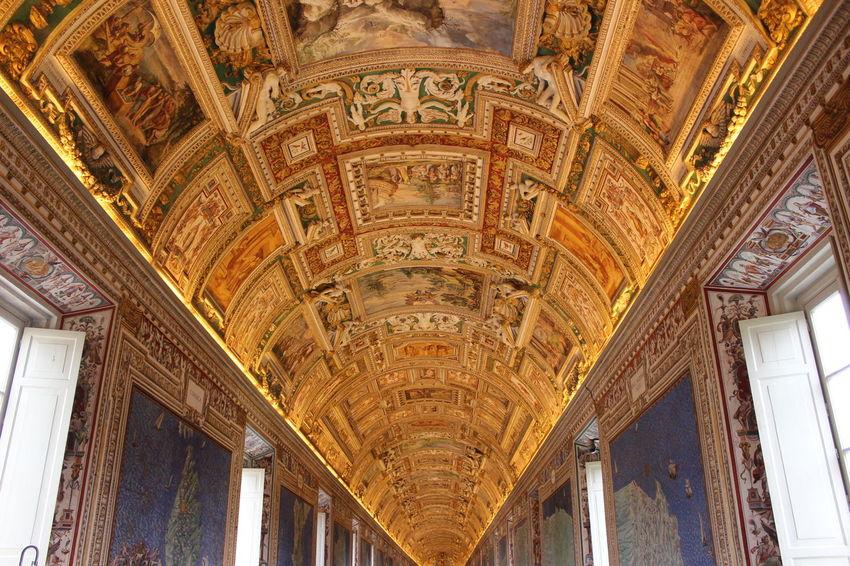Architecture Built Structure Design Historic Interior Italy Low Angle View Ornate Tourism Travel Destinations Vatican Museum VaticanCity Vaticano