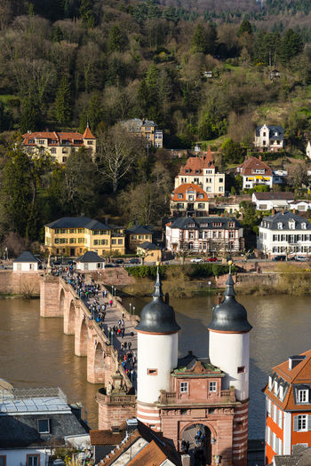 Alte Brücke Alte Brücke Heidelberg Architecture Bridge Building Exterior Built Structure Business Finance And Industry City Cityscape Day Dome Heidelberg High Angle View Landmark Neckar River No People Outdoors Roof Sightseeing Sky Tourism Tourism Destination View From Above Water