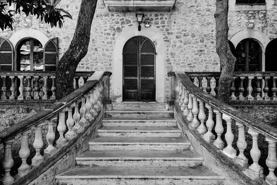 Arch Architecture Artà B&w Best Of Stairways Black And White Brick Wall Building Built Structure Diminishing Perspective Façade Mallorca Old SPAIN Spanish Stairs Stairway Travel Destinations Treppe Walkway