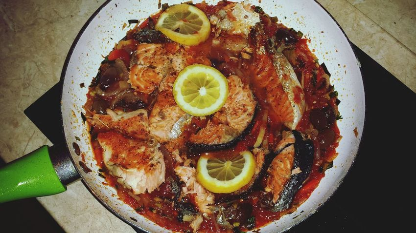 What's For Dinner? Madeathome Salmon With Tomato And Veggies