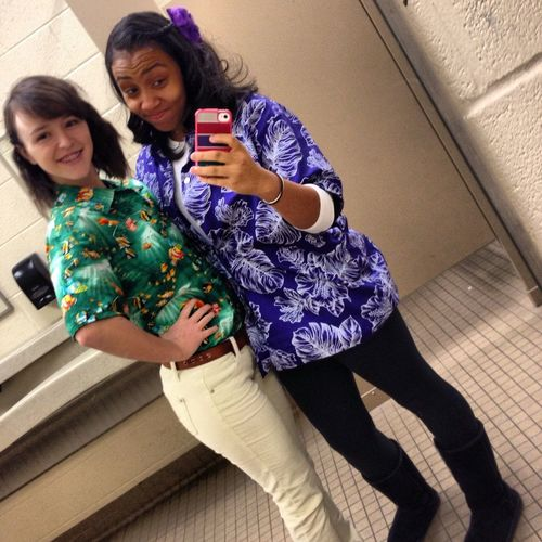 Hawaiian day.! #spiritweek #sophiehess
